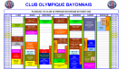 Planning Club Olympique Bayonnais COB 2013 - 2014